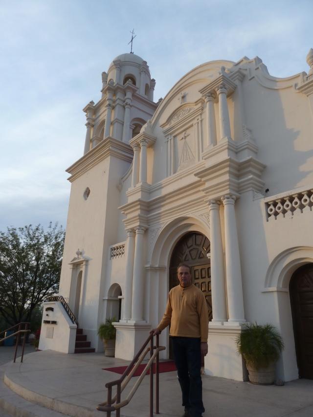 Our walk to a pretty church on a hill