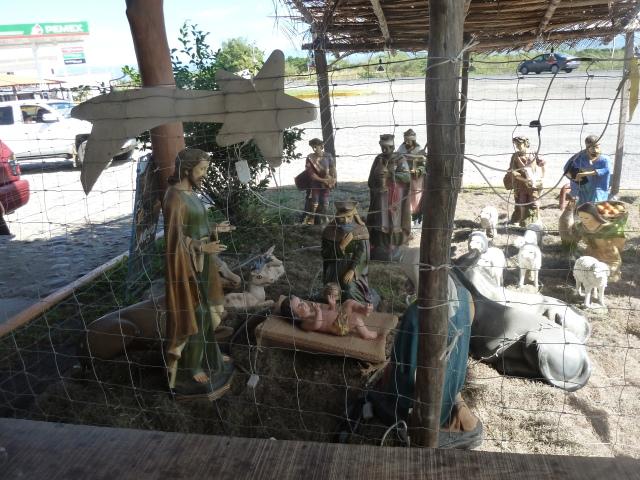 one of many nativity scenes