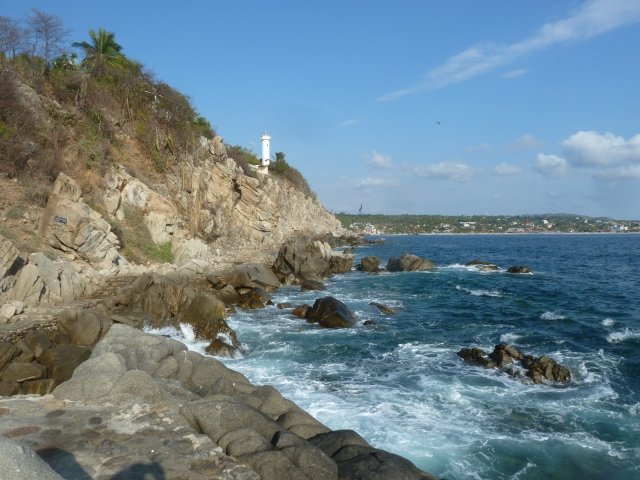 Lighthouse walk - check out the stone walkway