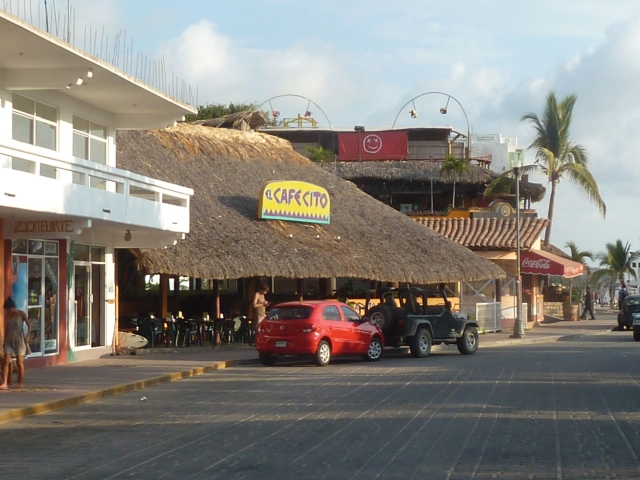 Large palapa over our favorite breakfast place