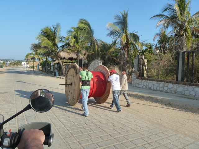 these guys are rolling this spool down the middle of the road.... :)
