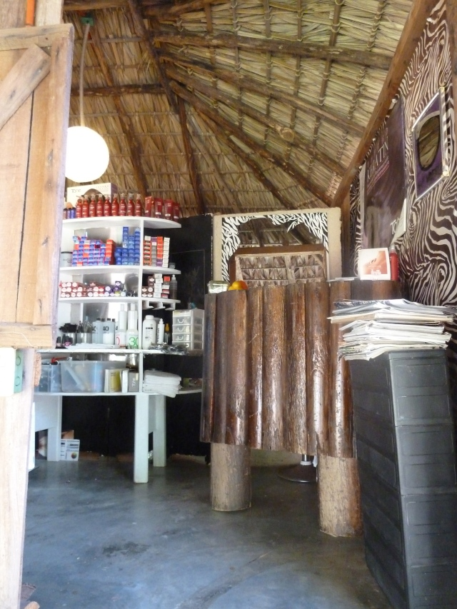 Hair salon in a Palapa