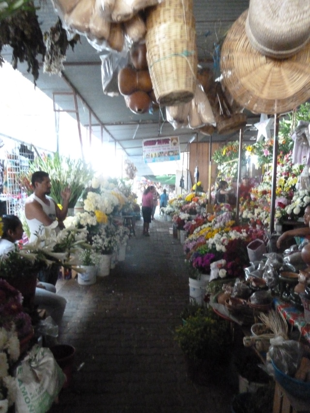 flowers in the mercado