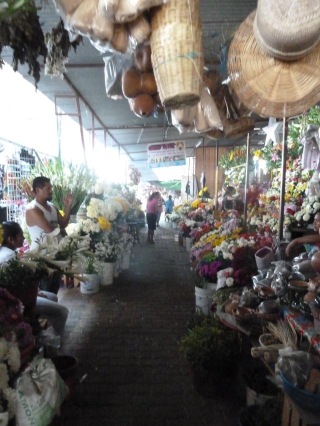 flowers in the mercado