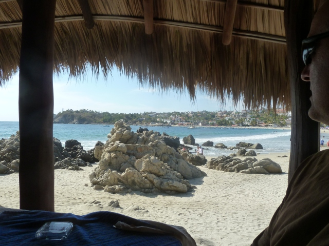 view from our table at lunch