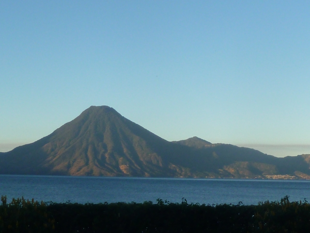 Morning on Lake Atitlan - before the clouds form