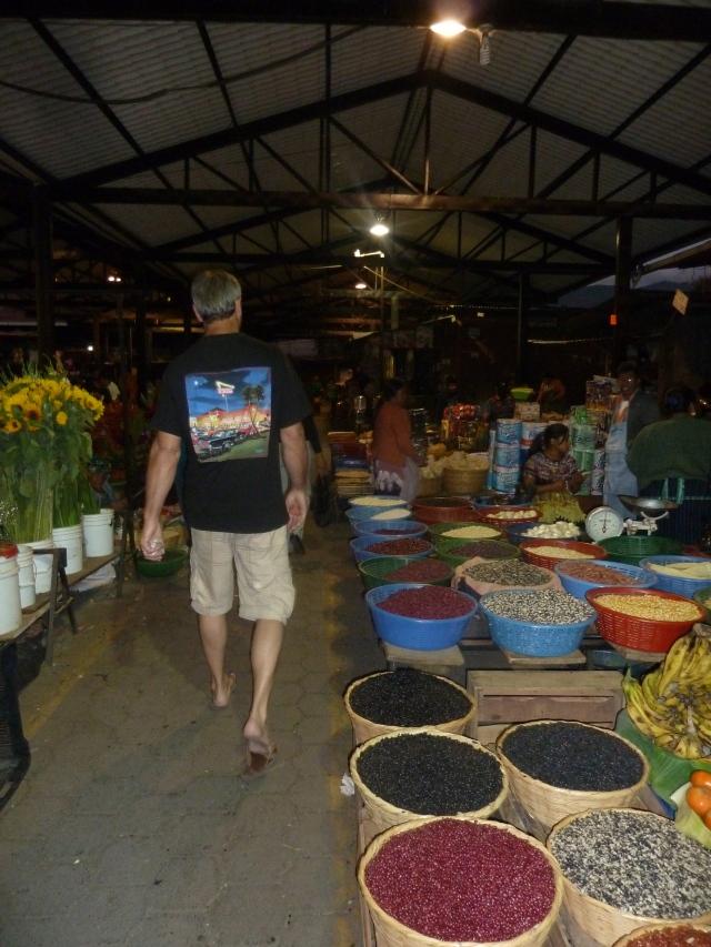 Walking through the local mercado