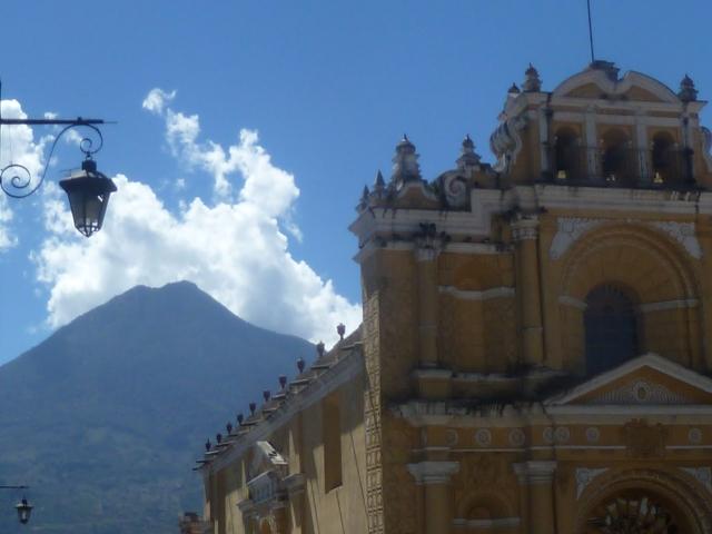 Church and Volcano - Antigua