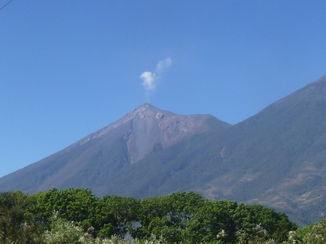 Pacaya - active volcano in Guatemala