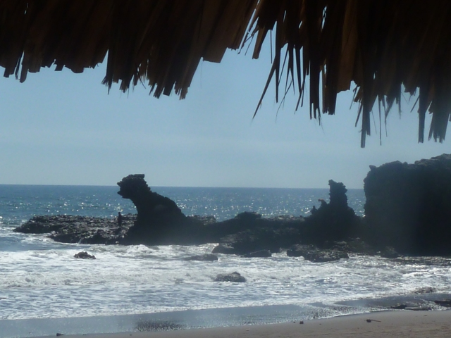 The dragon rock at the El Junco, El Salvador