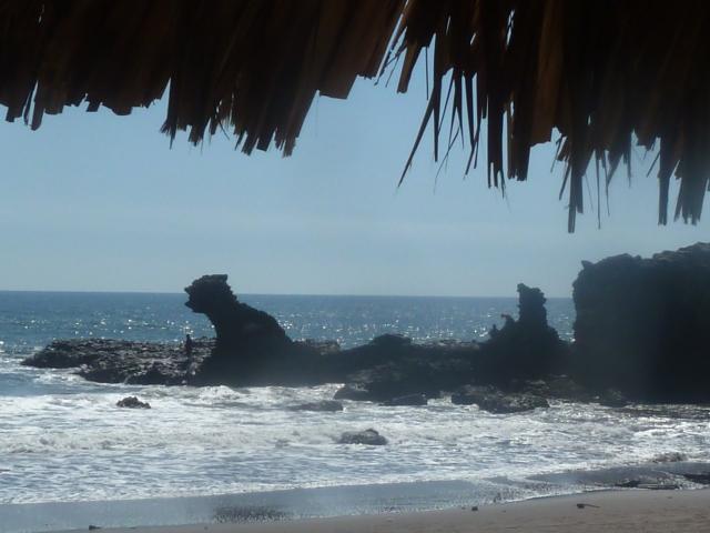 The dragon rock at the El Junco, El Salvador