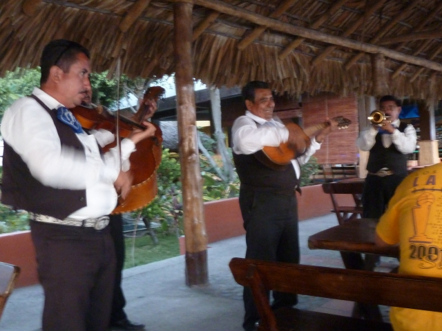 Mariachi band serenading our sunset