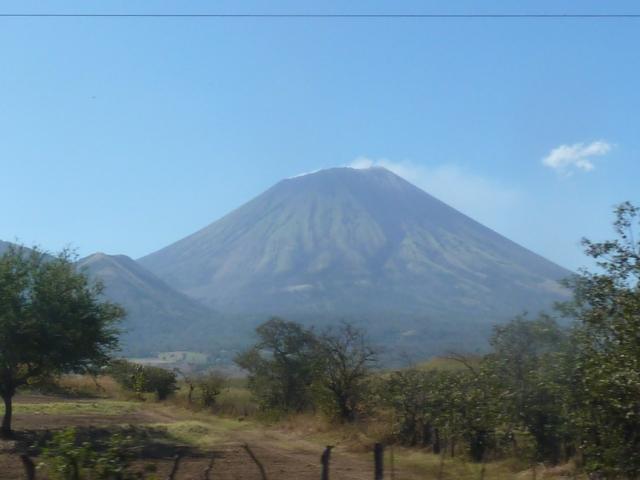 smoking volcano in Nicaragua