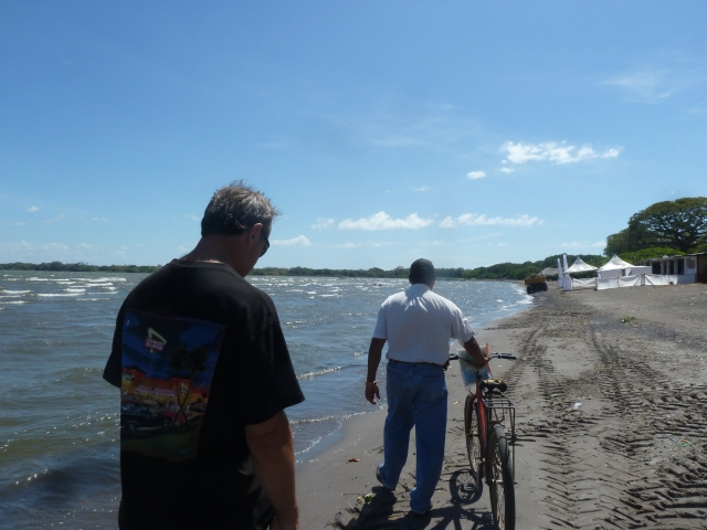 going to our boat tour - Lake Nicaragua