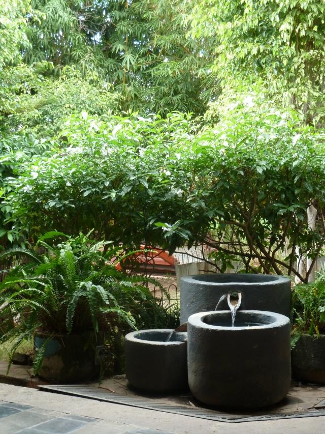 The garden at Pure Spa in Granada, Nicaragua