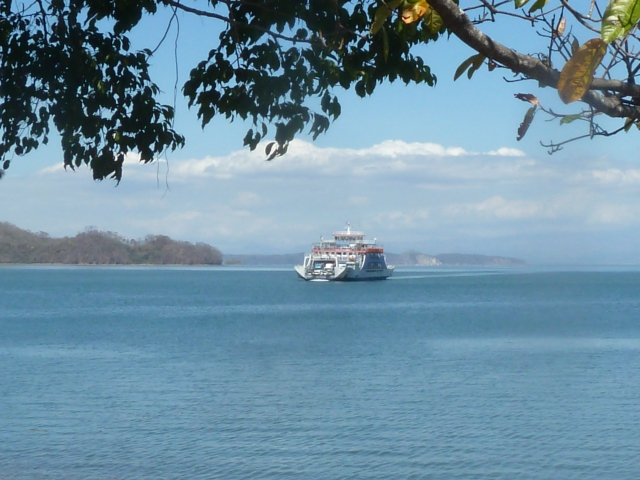 Taking ferry across to Puntarenas