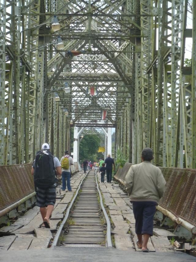 The old railroad bridge at the border crossing - Panama to Costa Rica