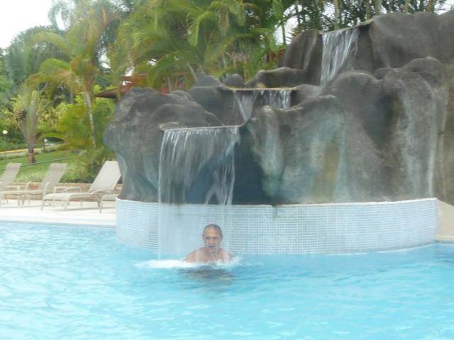 Having fun in the pool!