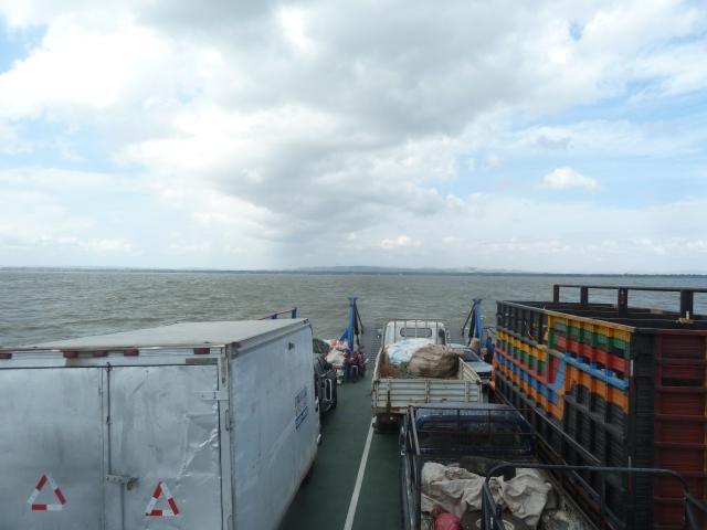 On the ferry to Ometepe Island, Lake Nicaragua
