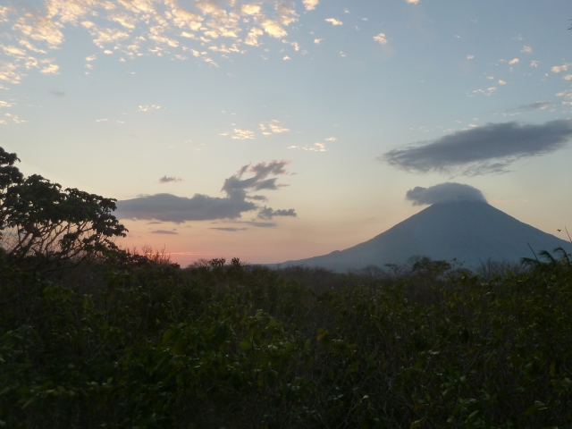View of the volcano from La Via Verde deck