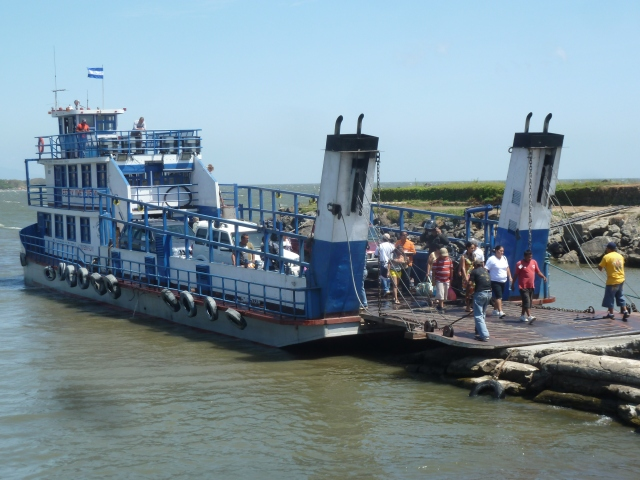 The ferry from Ometepe Island, Nicaragua