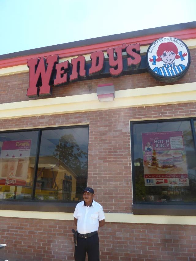 The guard at Wendy's