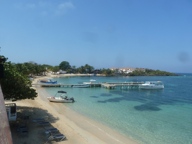 View from the room - The Beach House, West End, Roatan, Honduras