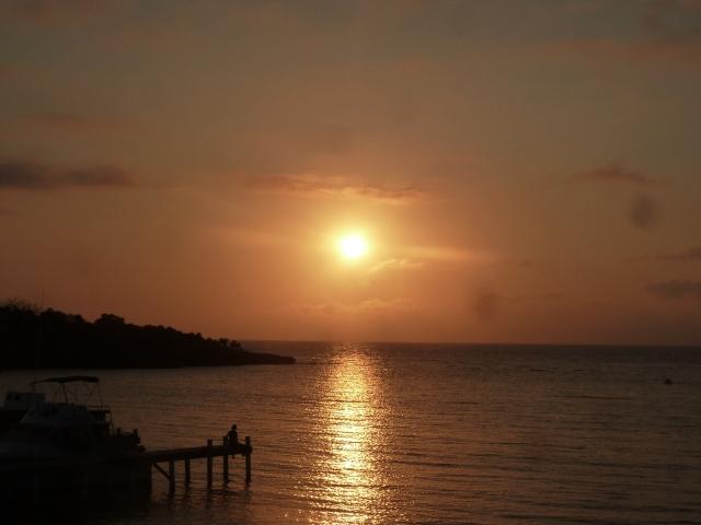 Sunset on Roatan.....
