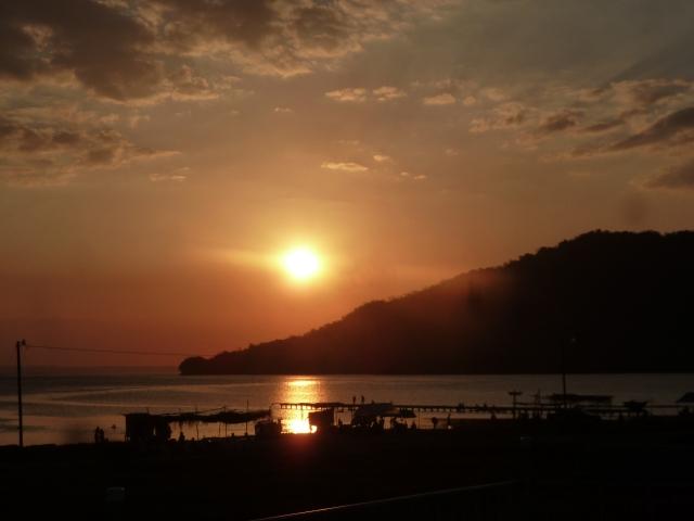 Sunset over Lake Peten, Guatemala