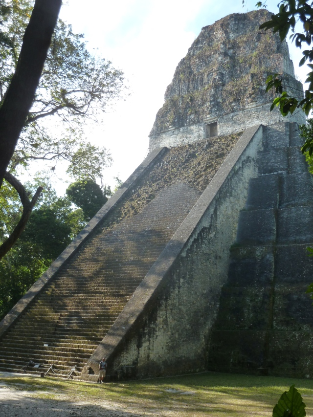Tikal, Guatemala - do you see Scott at the bottom of the picture?