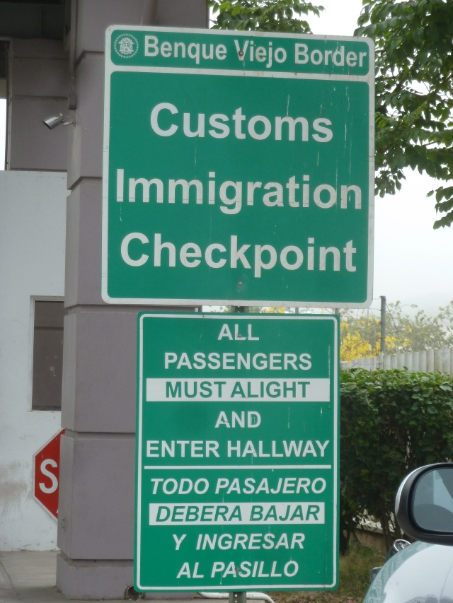 Border into Belize -
