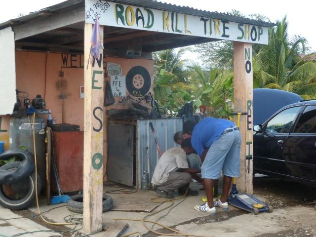 Road Kill TIre Repair Shop
