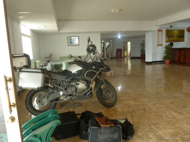 The bike gets to stay at the hotel
