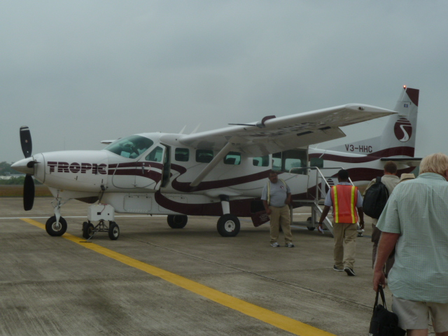 Flying to Ambergris Caye, Belize