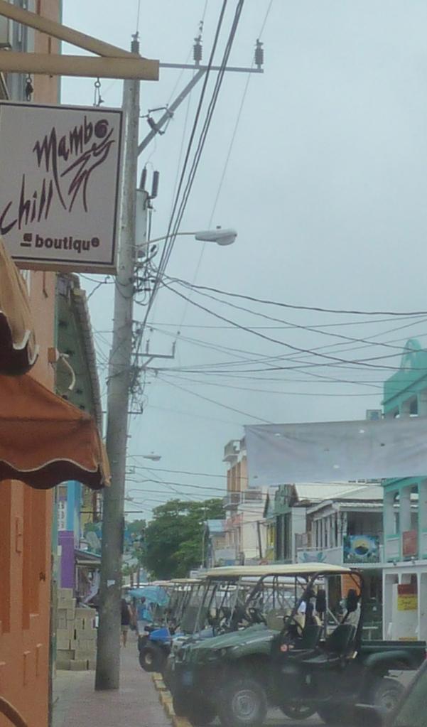Golf Carts everywhere!  Ambergris Caye, Belize