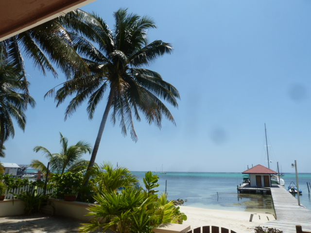 View from the room, The Palms, Ambergris Caye, Belize