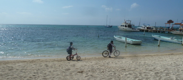 going to school - Ambergris Caye, Belize