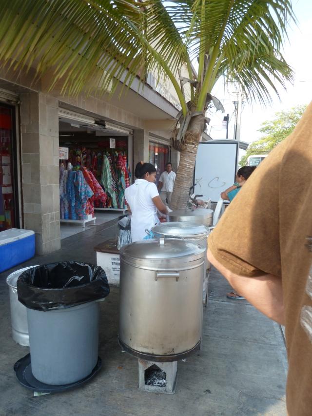 Tamale lunch in Playa del Carmen