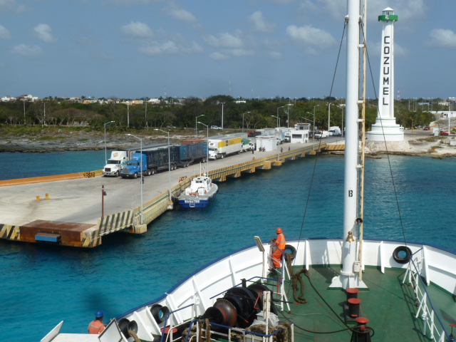 ferry dock at Cozumel