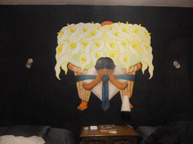 the painting above the beds, Izama, Mexico