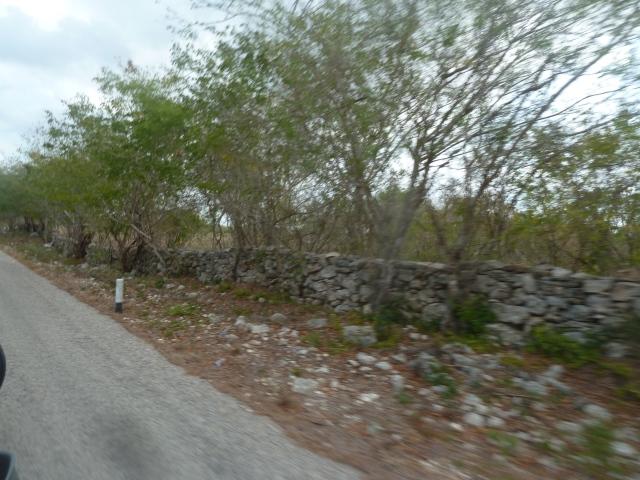 Rock walls, Yucatan, Mexico