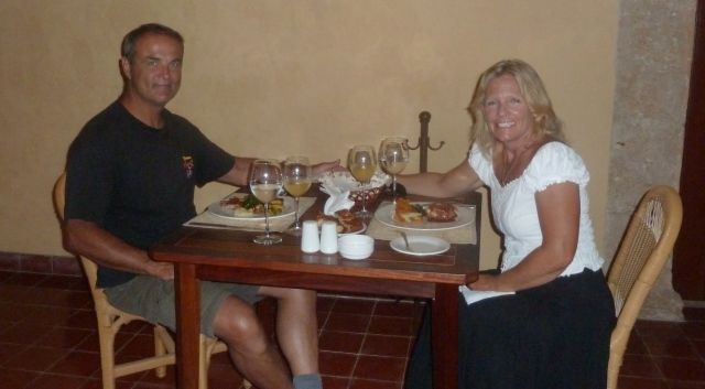 Romantic dinner in Campeche, Mexico