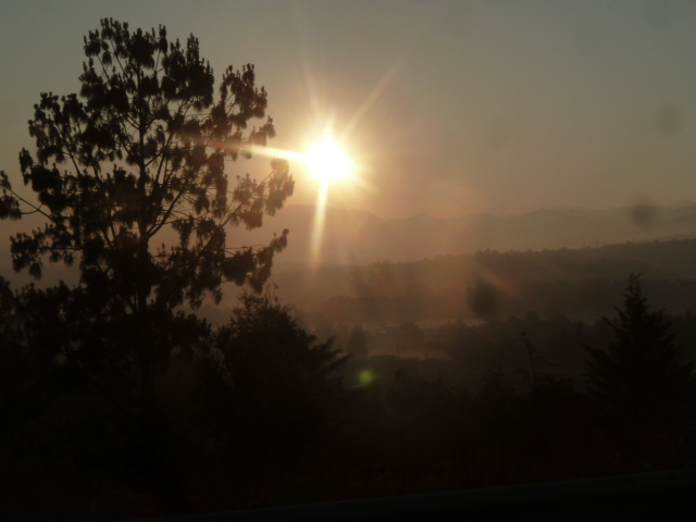 Sunrise on the road to Veracruz