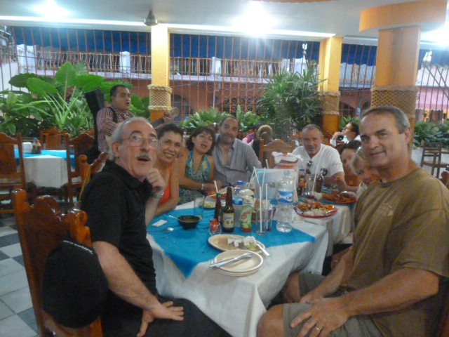 dinner with our friends in Acapulco