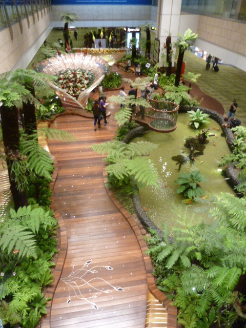 Enchanted Garden in the Singapore Airport