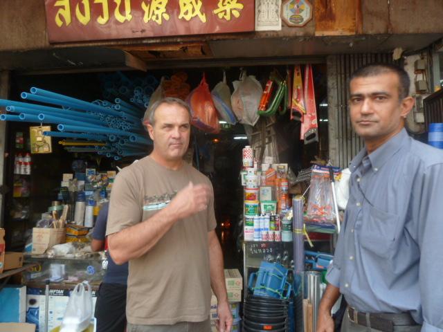 At the hardware store - Scott and David, Bangkok