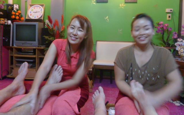 Our favorite massage girls, Bangkok