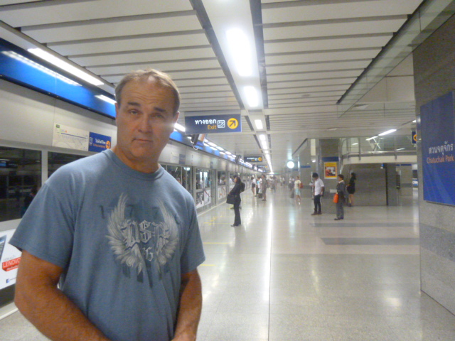 Taking the subway, Bangkok