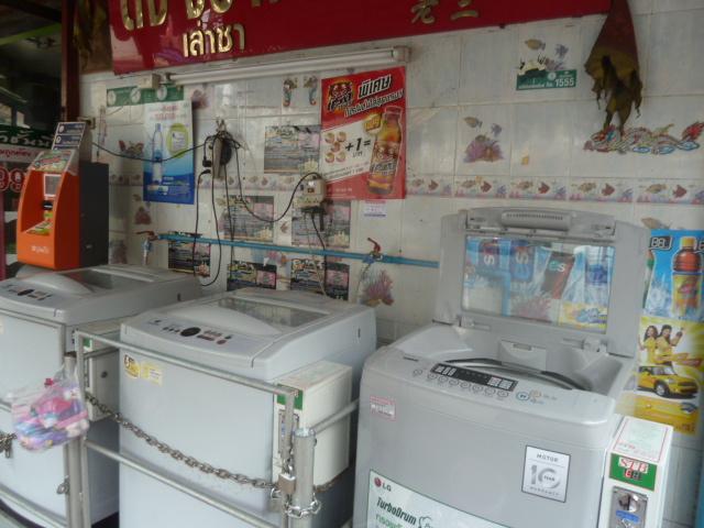 street-side laundry mat, Bangkok