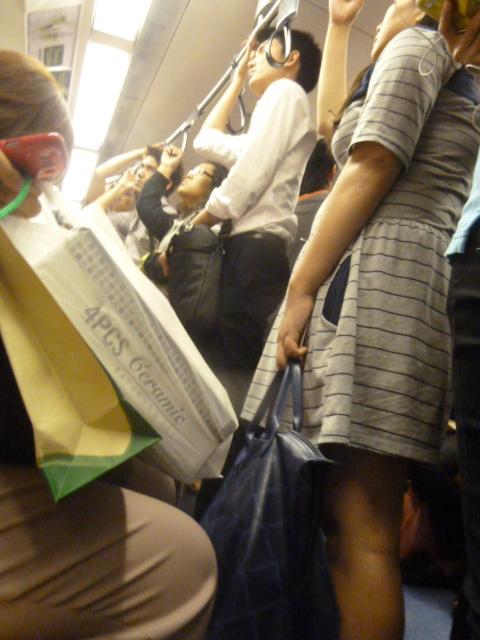 Skytrain at rush hour - Bangkok